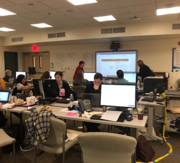 The Sierra View Team on Day 1 of Go-LIVE