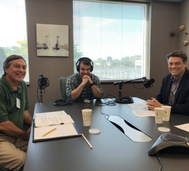 "MEDITECH and John Haffty recording an episode of ""MEDITECH Thought Leader Podcast Series"""