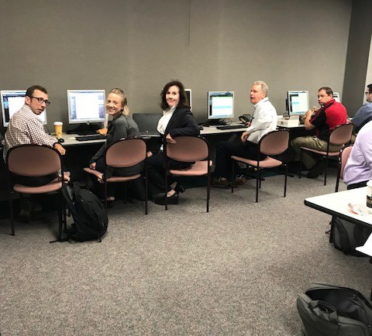 NHA at Salina Regional Medical Center's command center during the recent Go-LIVE