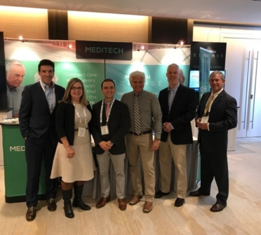 NHA visiting the MEDITECH booth at e-Health 2018